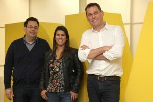 Vicente Varela, Patricia Blanco e Adrian Ferguson