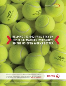 New Xerox Print Ad: US Open 2015